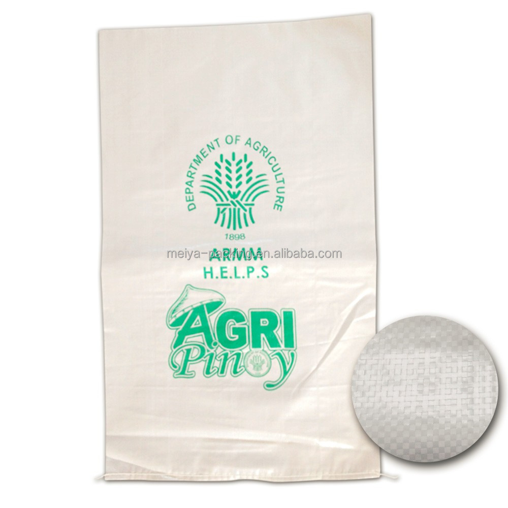 High quality laminated 50kg woven pp bags with offset print for grain rice
