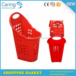 CA-TGL-1 70 liters large volume rolling grocery basket with 3 wheels