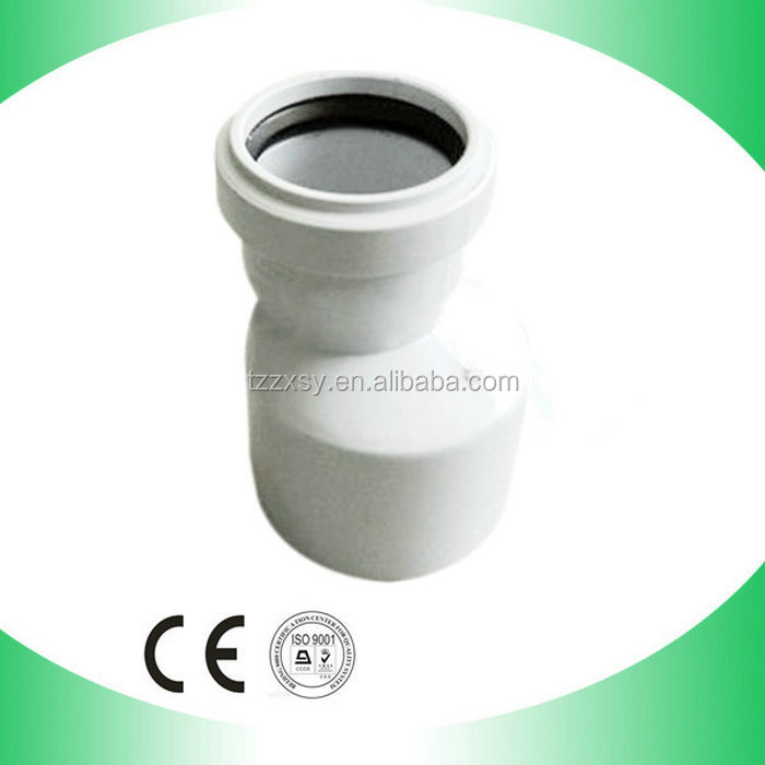 PVC Reducing Coupling pipe Fittings with rubber joint For Water Drainage