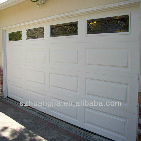 Electric Custom Size High Security Waterproof Galvanized Steel Sectional Overhead Garage Doors