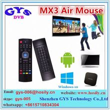 High quality mx3 wireless remote control 2.4g air fly mouse for android tv box