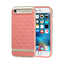 For iphone 7 case,TPU PC 2 in 1 Combo cover Shockproof Diamond Pattern 3d 5 6s plus phone accessories mobile case for iphone 7