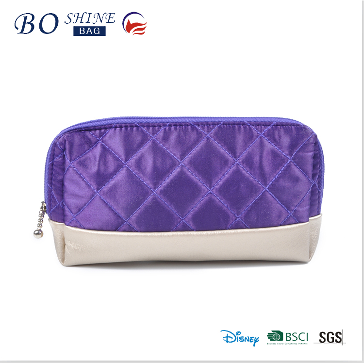 Promotion beauty bag zip ladies cosmetic vanity bag