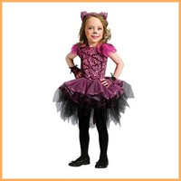 hottest baby girl cat pattern hallowmas dress