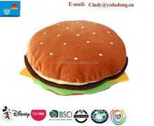 Hamburger Plush Cushion / Plush Food Toy Cushion/ Hamburger Plush Pillow