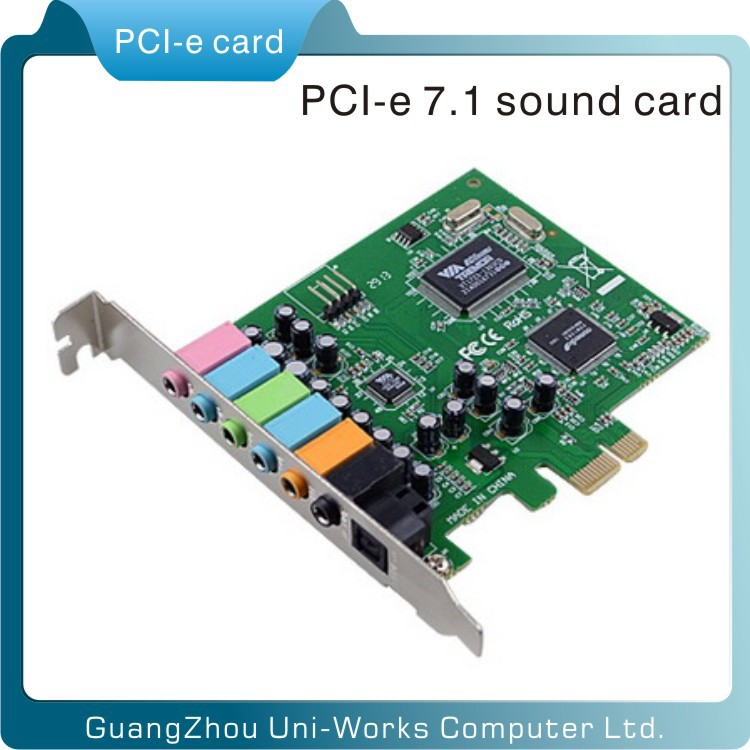 with fiber-optic pci e CMI8788 8 channel 7.1 sound card