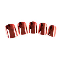 plastic fingernails metallic artificial nails