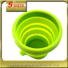 Outdoor Telescopic Gargle Collapsible Foldable Folding Cup, Toothbrush Cup, Mug for Outdoor Activities, Green