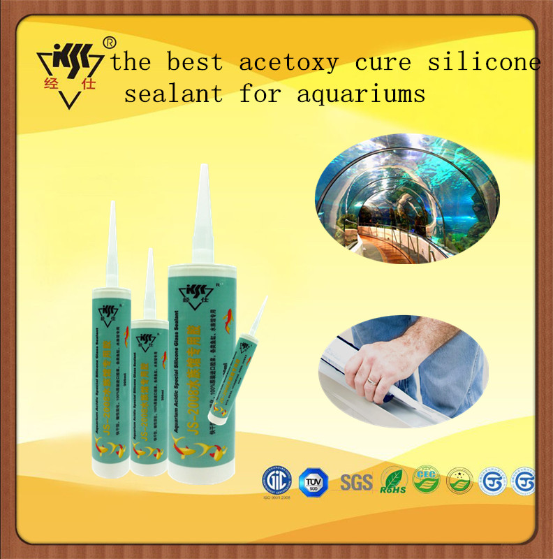 High elastic the best acetoxy cure fishing ivu silicone sealant for aquariums