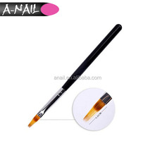 Wholesaled Black Private Label Customized Wooden Handle Nylon Hair Ombre Brush UV Gel Nail Brush For Nail Art Tools