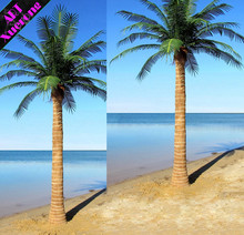 Cheap Fake Large Outdoor Artificial Decorative Fiberglass Stem and Plastic Material Palm Tree Branches From China Factory