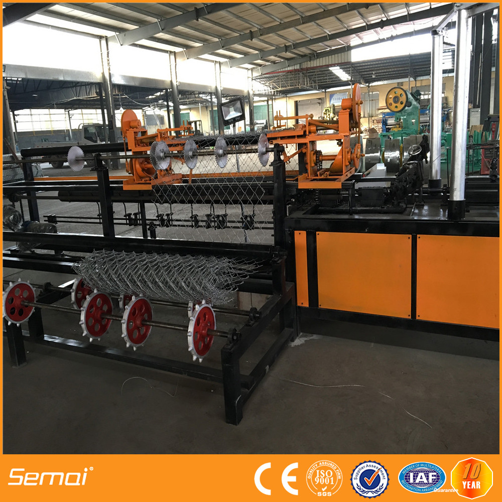 new products high speed electricity saved fully-automatic chain link fence machine