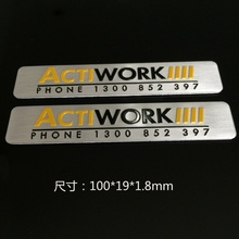 Factory Supplier top quality custom anodized aluminum name plate