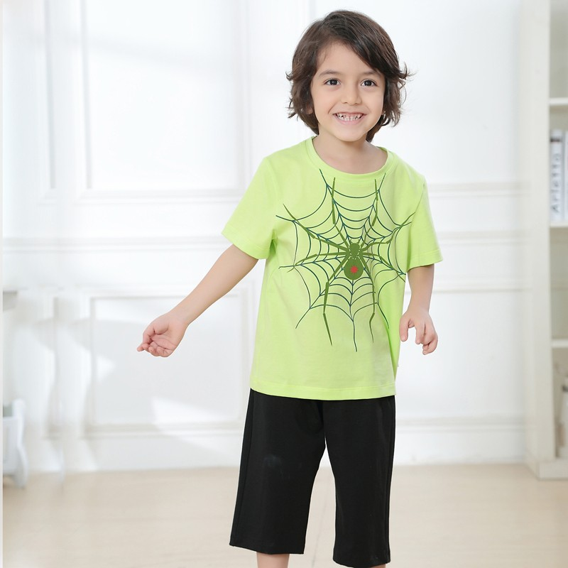 Summer Boy Short Pants Set Short Sleeve T-shirt Clothing Sets Casual Kids Summer Clothing Sets