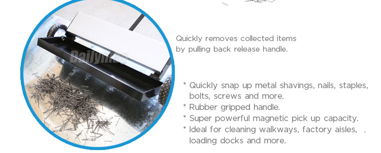 "2018 Hot Sale 24"" Super Power Pulling Magnetic Road Sweeper With Quick Release"