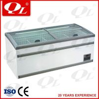 Beverage display cooler guangzhou factory open seafood display freezer show case
