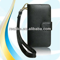 Folio wallet case for iphone 5 5s,belt clip for iphone 5 5s book cover case