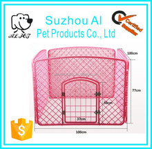 Indoor Outdoor Plastic 4 Panel Dog Cage Folding Pet Playpen with Door