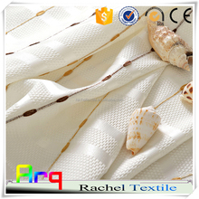 Bead string new design 100% polyester embroidery fabric for Curtain livingroom window place