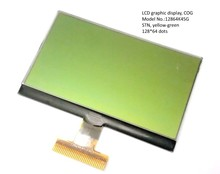 COG Type Graphic lcd module 128x64 with yellow green backlight