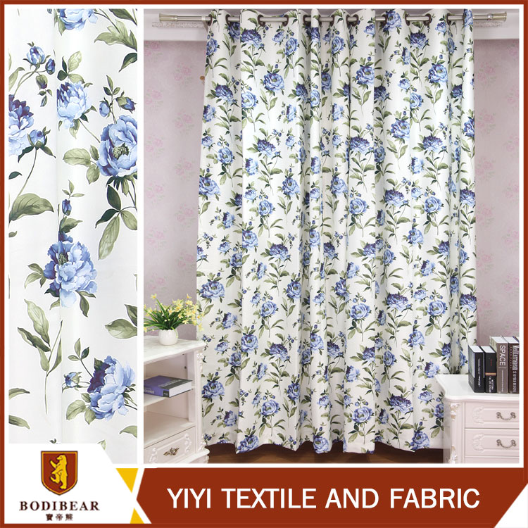 China Manufacturer For home-use Colorful blackout curtains floral