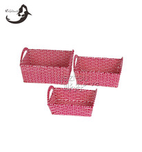 2016 new products 3 pcs handmade paper basket