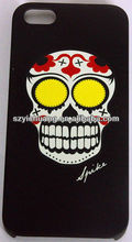 China Manufacture Mobile Accessories Skull Cell Phone Case For iPhone/Samsung