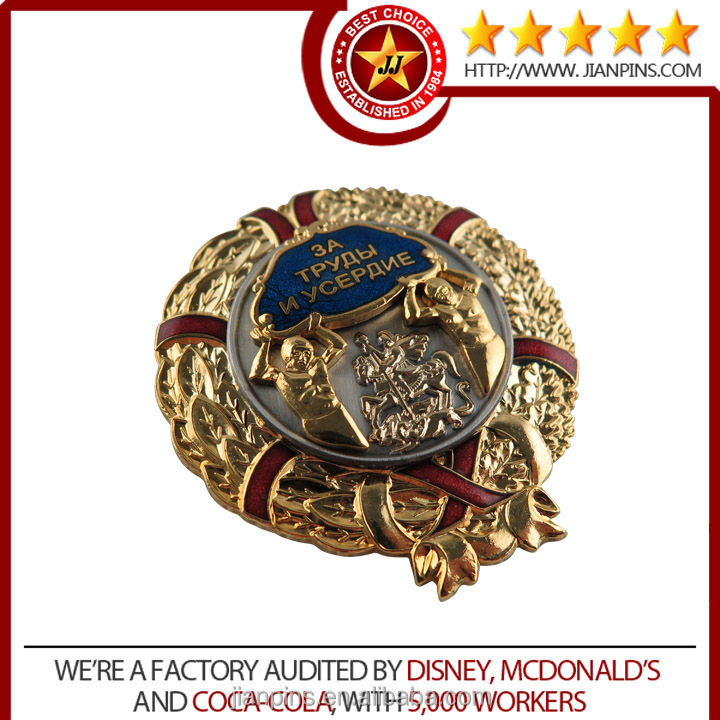 Customized metal gold lapel pins
