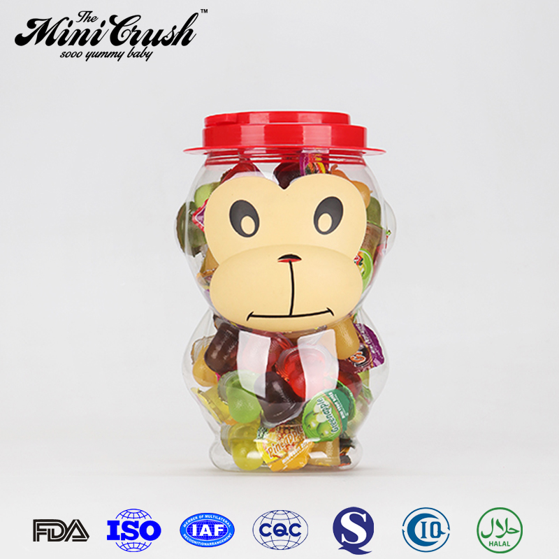 Green cow cartoon candy jar packing soft sweets and gummies candy