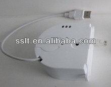 Retractable electric wire security cable sensor for mobile phone display