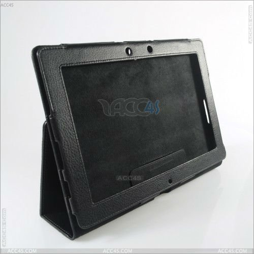 Black Leather Case Stand for Asus Transformer Pad TF300 P-ASUSTF300CASE004