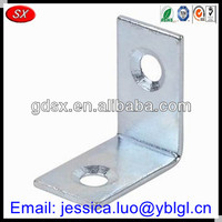 Dongguan furniture hardware 90 degree L corner bracket,galvanized steel corner bracket,table/cabinet corner bracket