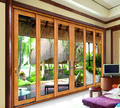 soundproof double glass thermal break aluminum bifold door