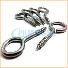 Good quality white and blue or black zinc plated closed eye screw