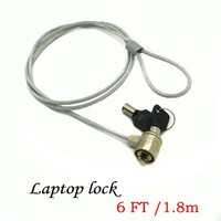 1.8m Laptop security cable lock PC safety lock computer Anti-Theft Cable Chain notebook with lock and key