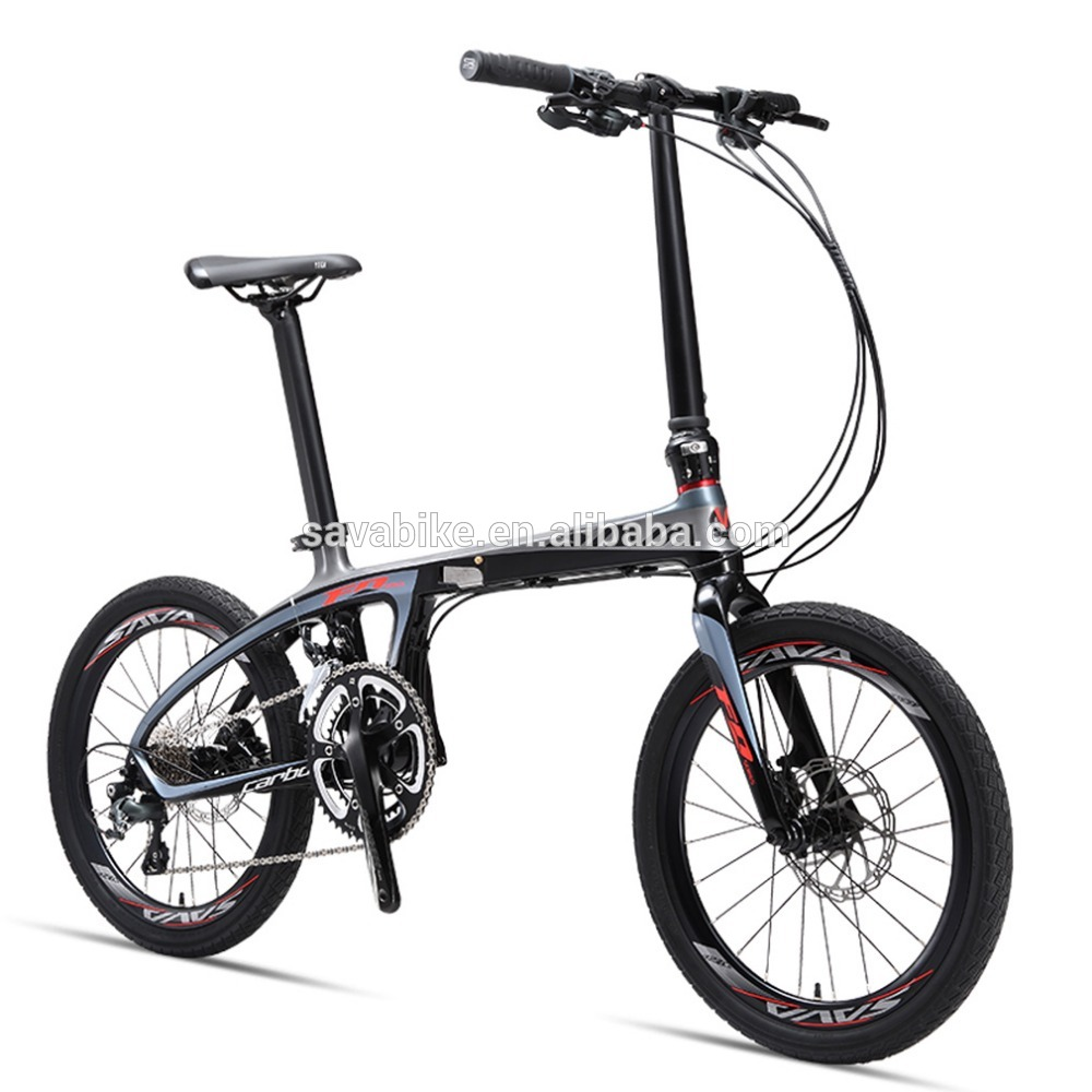 SAVA Z1 China factory direct supply folding bicycle 20'' carbon frame mini cooper folding bike bicycle