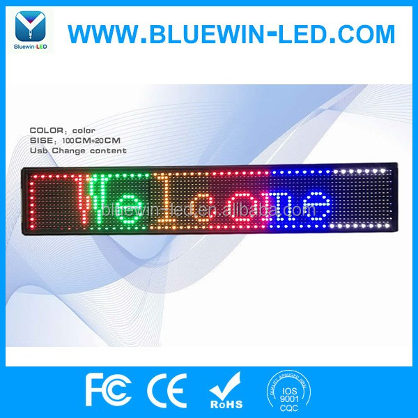 Advertising running/scrolling/moving text/message led display module many colors---