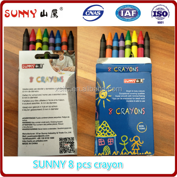 color wax crayon set for kids