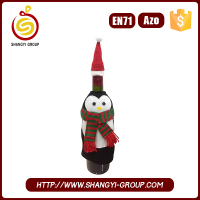 Promotional Christmas penguin single Wine Bottle holder gift bags