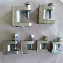 Conduit clamp strap and hanger girder beam clamp