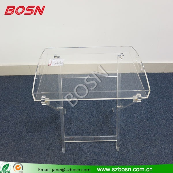 Modern Design High Quality Transparent Acrylic Tray shelf Lucite servicing Tray
