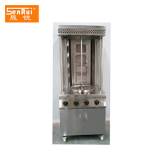 Free-standing commercial automatic gas frozen chicken shawarma machine doner kebab gril with 4 burners
