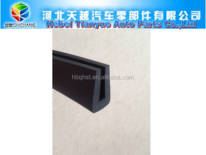 u type EPDM/NBR/neoprene hard rubber channel rubber seal strips