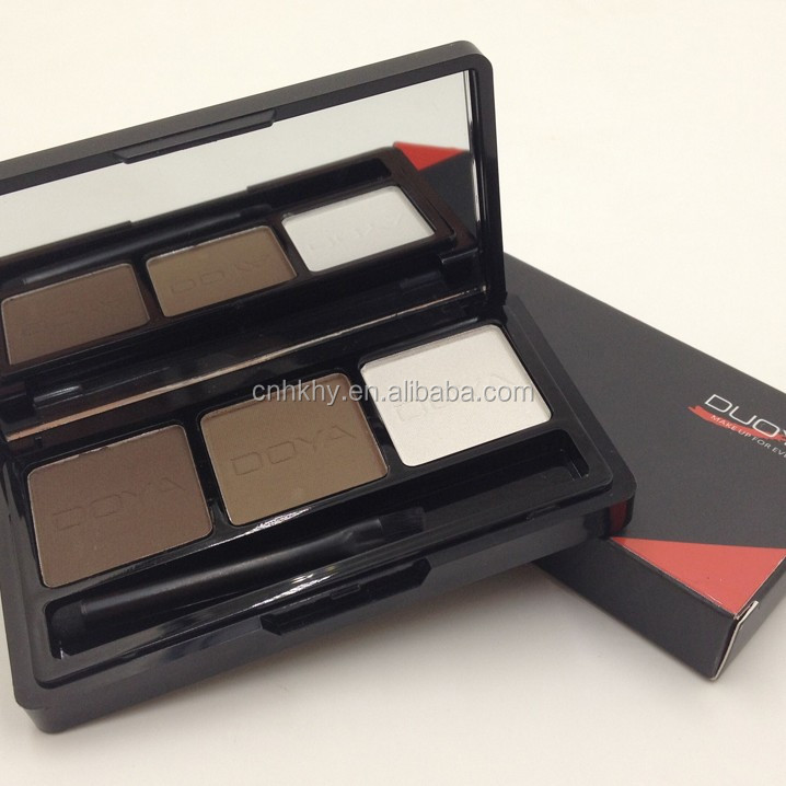 Eyebrow Makeup Kit Set 3 Color waterproof eyeshadow eyebrow powder Make Up Palette by Qbeka-DUOYA
