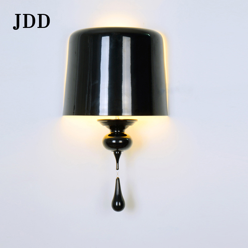 European fashion personality water drops wall lamp after the modern white black gourd lights living room corridor aisle wall lam