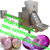 onion peeler and root cutter/onion peeling and root cutting machine