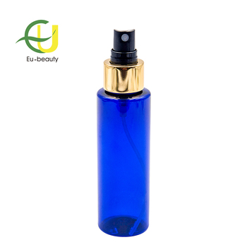 100ml Blue Cylinder Plastic Thick Wall PET Bottle