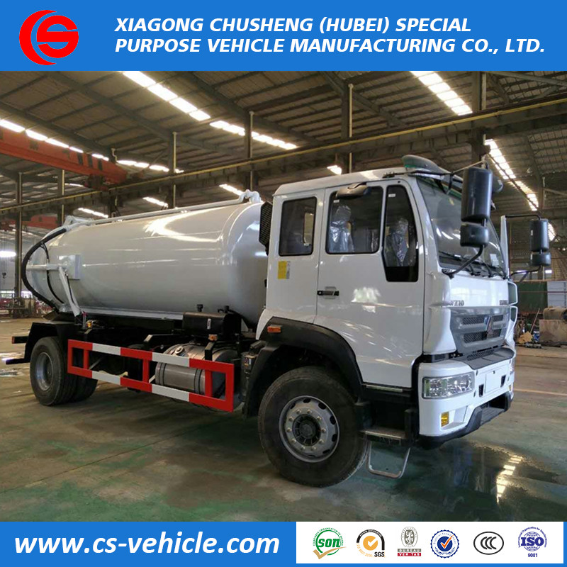 Widely used sewage suction tanker 12000liters vacuum sewage truck with best price