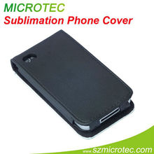 Sublimation blank, leather flip case for iphone 4