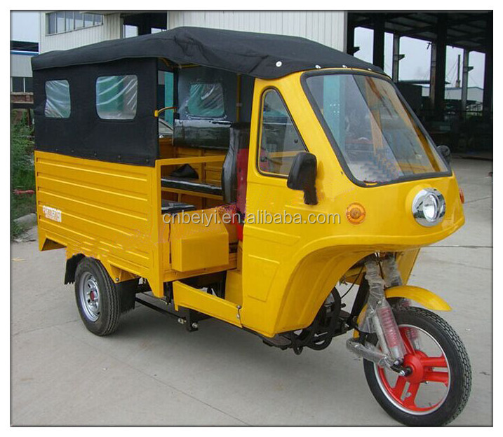New design enclosed passenger tricycle with cover tents